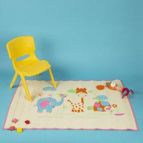 Baby Moo-I Love Animals Pink Air Filled Waterproof Massage Mat
