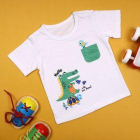 Kicks & Crawl-Animal Friends Pocket Tshirt
