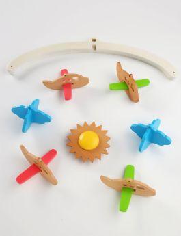 Ariro Toys Wooden Mobile - Planes
