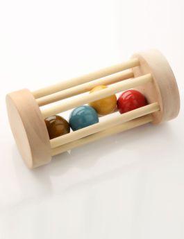 Ariro Toys Wooden Rolling Rattle