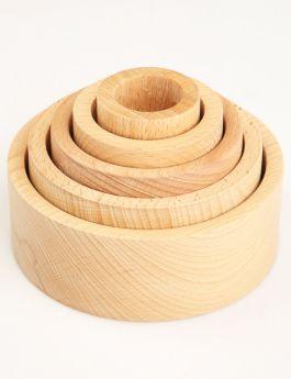 Ariro Toys Wooden Nesting Bowls - Natural