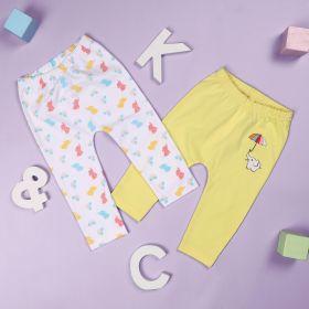Baby Elephants Girls Diaper Leggings - Pack of 2