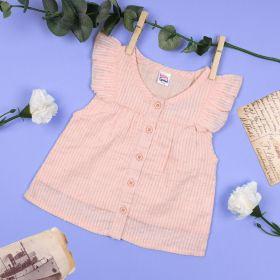 Kicks & Crawl-Baby Pink Buttoned Top
