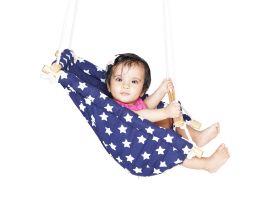 CuddlyCoo-Baby Swing / Ceiling Rocker - Blue Star