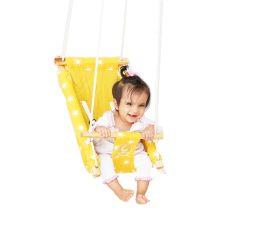 CuddlyCoo-Baby Swing / Ceiling Rocker - Mustard Sun