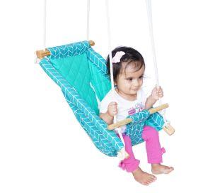CuddlyCoo-Baby Swing / Ceiling Rocker - Sea Green Zig Zag