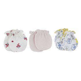Baby Moo-Mixed Prints (Bb-001) Multicolour 3 Pk Mitten