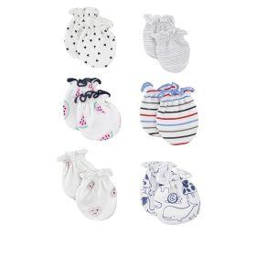 Baby Moo-Mixed Prints (Bb-001) Multicolour 6 Pk Mitten