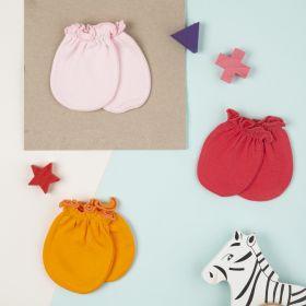 Baby Moo-Plain Multicolour 3 Pk Mitten