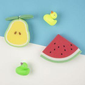 Baby Moo-Sliced Fruit Multicolour 2 Pk Bath Sponge