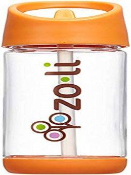 ZoLi SQUEAK Straw Water Bottle- Orange 12 oz
