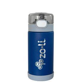 ZoLi POW SQUEAK Vacuum Insulated Straw Drink Bottle-Navy