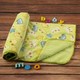 Baby Moo-Buses & Bears Green Fur Blanket
