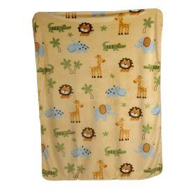 Baby Moo-I Love Animals Yellow Fur Blanket