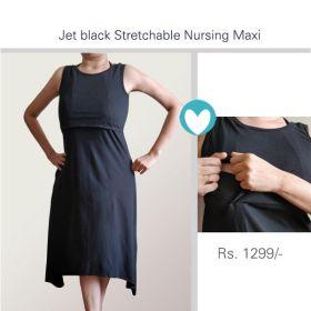 MoMoms-Jersey Straight Cut  Black