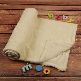 Baby Moo-Your Star is Born Cream Textured Beige Blanket