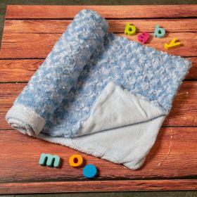 Baby Moo-Swirl Blue Fur Blanket