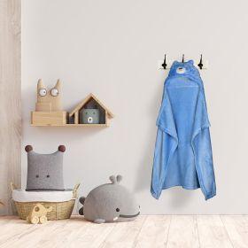 Baby Moo-BFF Bear Blue Animal Hooded Blanket