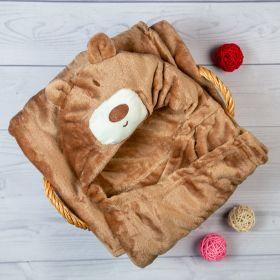 Baby Moo-BFF Bear Brown Animal Hooded Blanket