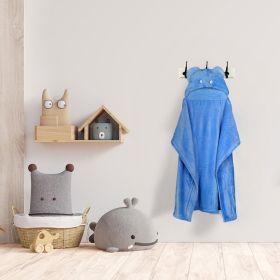 Baby Moo-Elephant Blue Animal Hooded Blanket