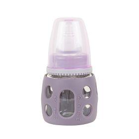 Baby Moo-Good Grip Purple 60 ml Glass Feeding Bottle