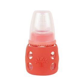 Baby Moo-Good Grip Orangish Red 60 ml Glass Feeding Bottle
