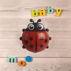 Baby Moo-Ladybug Red Toothbrush Holder