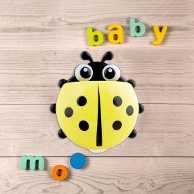 Baby Moo-Ladybug Yellow Toothbrush Holder