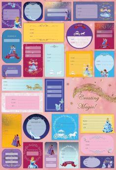 The Story Saga-Stationary - Cinderella Name Labels