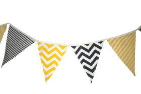 CuddlyCoo-Cloth Bunting  - Grey & Yellow