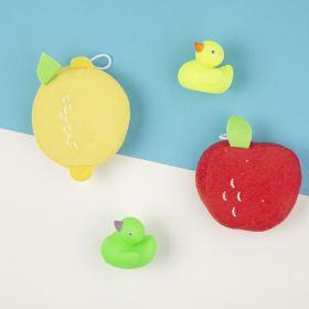 Baby Moo-Fresh & Fruity Multicolour 2 Pk Bath Sponge