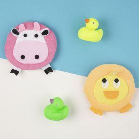 Baby Moo-Animal Multicolour 2 Pk Bath Sponge