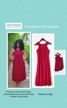 MoMoms-Pleated Side Flap Dress