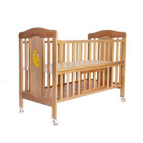 Baby Moo-Wooden Star Brown Cradle