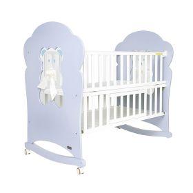 Baby Moo-Wooden White Cradle