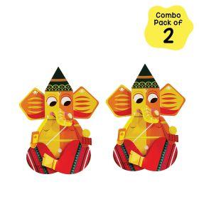 Toiing CrafToi Ganpati - 3D DIY Indian Paper Craft Kit Toy (Pack of 2)