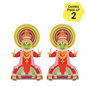 Toiing CrafToi Kathakali - 3D DIY Indian Paper Craft Kit Toy (Pack of 2)