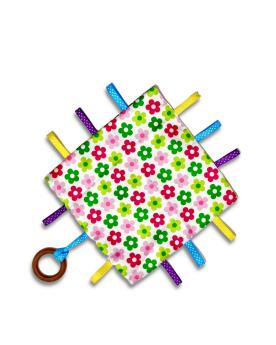 Glee Natural Toys-Crinklee - Garden (White)
