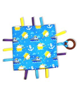 Glee Natural Toys-Crinklee - Marine (Blue)