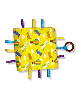 Glee Natural Toys-Crinklee - Yellow (Aero)