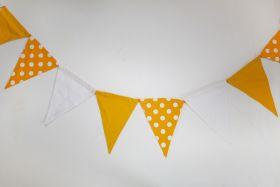 CuddlyCoo-Cloth Bunting  - Yellow