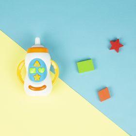 Baby Moo-Feeding Bottle Shaped Blue Musical Toy