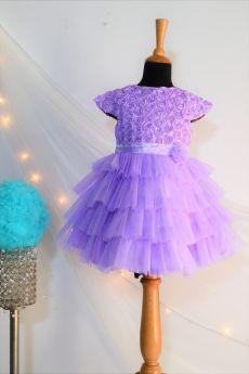 Tutus by Tutu-TBT Rose Fluff Ball Dress- Purple