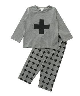 Funkrafts Clothing - Kids Full Sleeves  Night Suit  - Grey