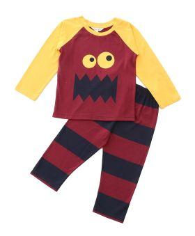 Funkrafts Clothing - Kids Full Sleeves Night Suit - Multicolor