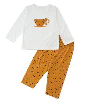 Funkrafts Clothing - Girls Full Sleeves Tea Cup Night Suit - Multicolor