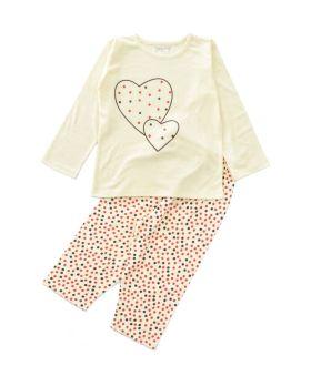 Funkrafts Clothng - Kids Full Sleeves  Night Suit Dots Print - Yellow