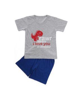 Funkrafts Clothing - Boys Half Sleeves Night Suit Little Dinosaur Print