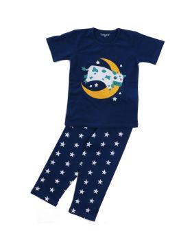 Funkrafts Clothing - Kids Half Sleeves Night Suit  - Blue