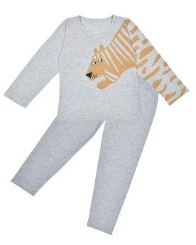 Funkrafts Clothing - Boys Full Sleeves T-shirt and Bottom Night Suit Animal Print - Grey